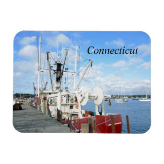 fishing boats in Connecticut Magnet