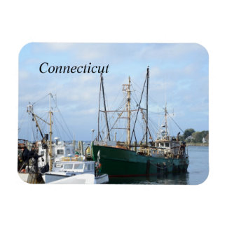 fishing boats in Connecticut Flexible Magnets