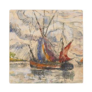 Fishing Boats in La Rochelle, c.1919-21 Wood Coaster