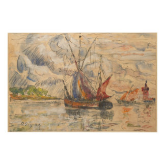 Fishing Boats in La Rochelle, c.1919-21 Wood Wall Art