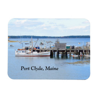 fishing boats in Port Clyde, Maine Rectangular Magnet