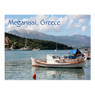 Fishing boats in the harbour, Meganissi, Greece Postcard
