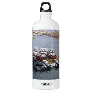 Fishing Boats In Valletta Water Bottle