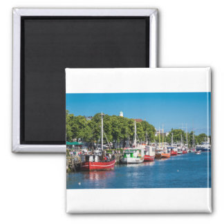 Fishing boats in Warnemuende (Germany) Magnet
