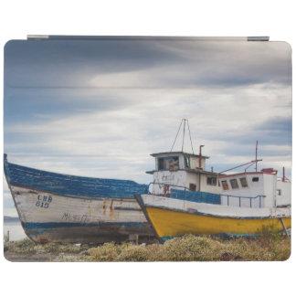 Fishing boats iPad cover