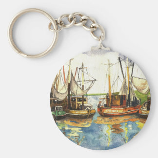 Fishing Boats Key Ring