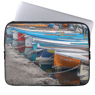 Fishing boats laptop sleeve