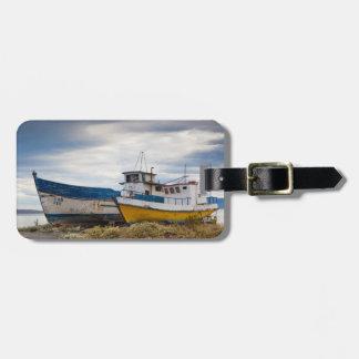 Fishing boats luggage tag