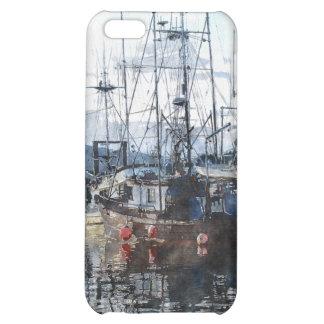 Fishing Boats Marina Watercolour Art iPhone Case iPhone 5C Case