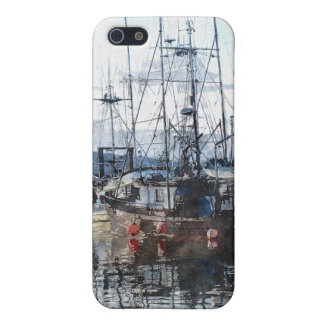 Fishing Boats Marina Watercolour Art iPhone Case iPhone 5/5S Cases