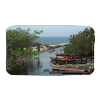 Fishing Boats, Negril River Jamaica Blackberry Cur iPhone 3 Case