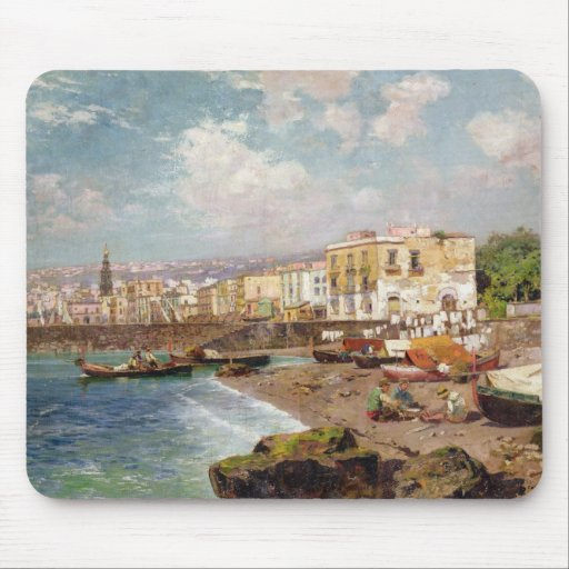 Fishing Boats on the Beach at Marinella, Naples (o Mousepads