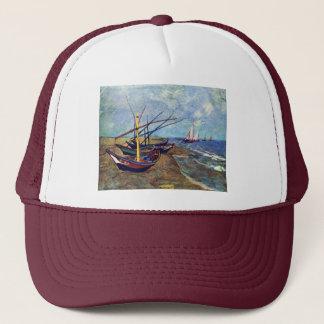 Fishing Boats On The Beach At Saintes-Maries, Fish Trucker Hat