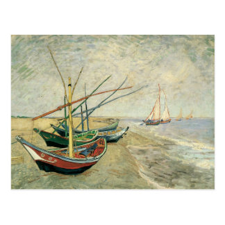 Fishing Boats on the Beach by Vincent van Gogh Postcard