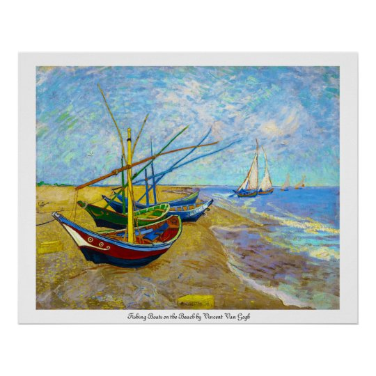 Fishing Boats on the Beach by Vincent Van