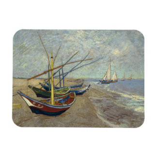 Fishing Boats on the Beach by Vincent Van Gogh Vinyl Magnet