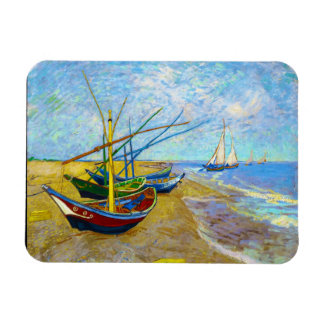 Fishing Boats on the Beach by Vincent Van Gogh Rectangular Photo Magnet