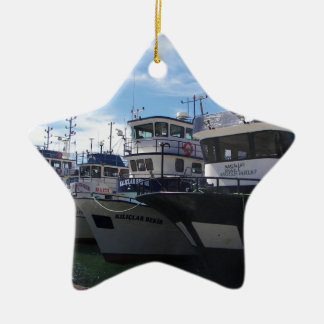 Fishing Boats On The Bosporus Christmas Ornament