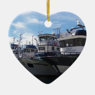 Fishing Boats On The Bosporus Christmas Ornament