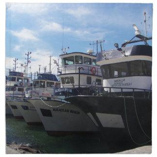 Fishing Boats On The Bosporus Napkin