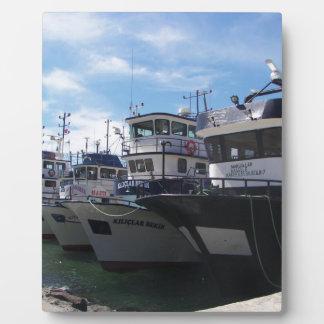 Fishing Boats On The Bosporus Plaques