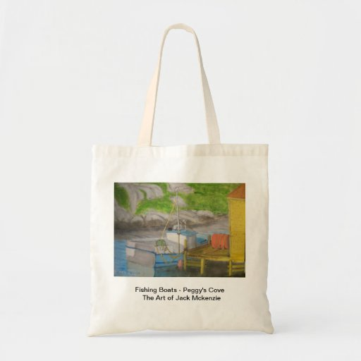 Fishing Boats - Peggy's Cove Tote Bags