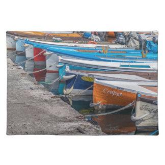 Fishing boats place mat