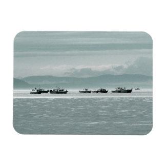 Fishing Boats Rectangular Magnet