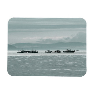 Fishing Boats Rectangular Photo Magnet