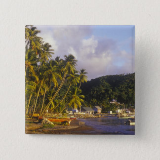 Fishing boats, Soufriere, St Lucia, Caribbean 15 Cm Square Badge