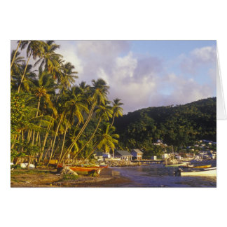Fishing boats, Soufriere, St Lucia, Caribbean Card