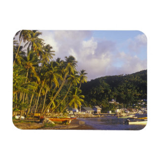 Fishing boats, Soufriere, St Lucia, Caribbean Rectangular Magnet