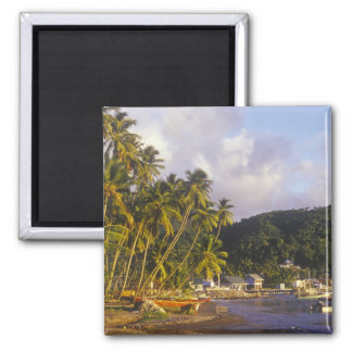 Fishing boats, Soufriere, St Lucia, Caribbean Square Magnet