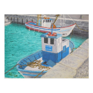 Fishing Boats - Tarifa Spain Postcard