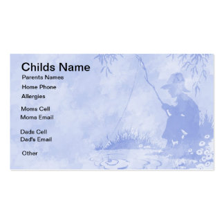Fishing Boy Kids Business Card