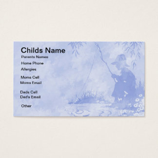 Fishing Boy Kids Business Card