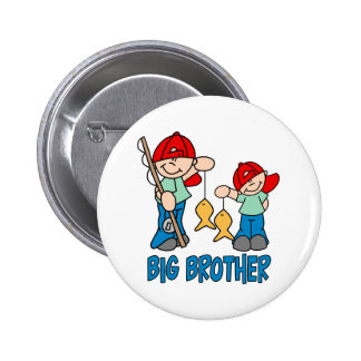 Fishing Buddies Big Brother 6 Cm Round Badge