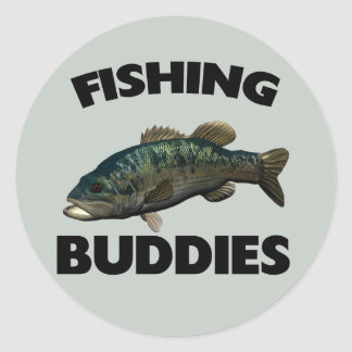 FISHING BUDDIES CLASSIC ROUND STICKER