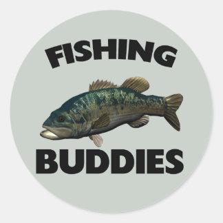 FISHING BUDDIES ROUND STICKER
