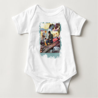 Fishing by the river baby bodysuit