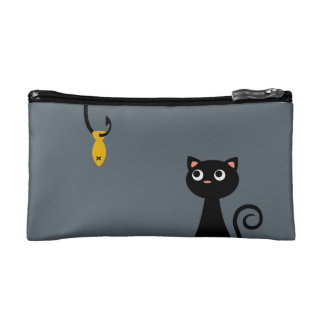 Fishing Cat Cosmetic Bag