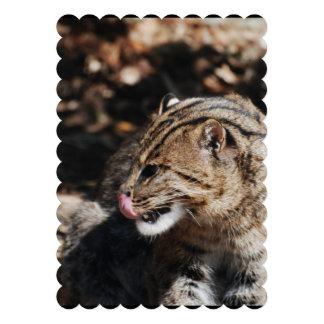 Fishing Cat Personalized Invitation