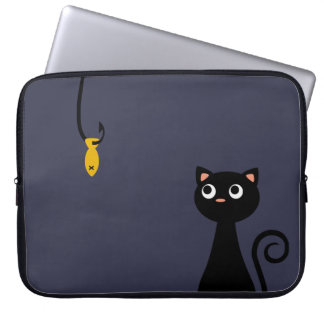 Fishing Cat Laptop Computer Sleeves
