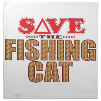 Fishing Cat Save Cloth Napkin