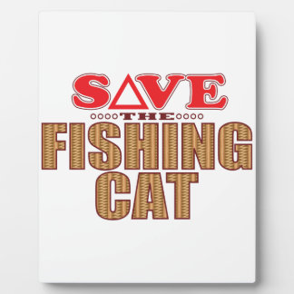 Fishing Cat Save Plaque