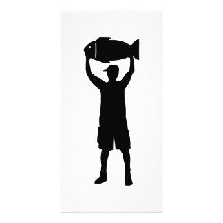 Fishing champion customized photo card