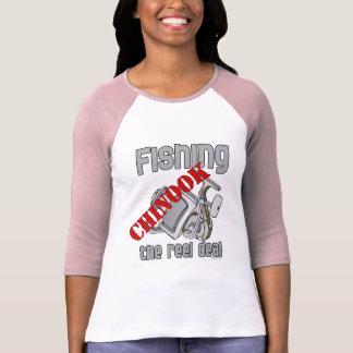 Fishing Chinook  Salmon The Reel Deal Fishing T-shirts