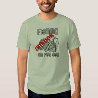 Fishing Chinook  Salmon The Reel Deal Fishing Tee Shirt