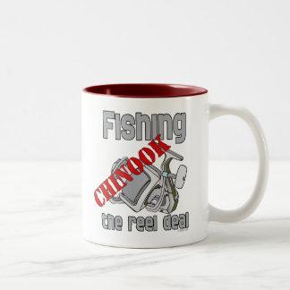 Fishing Chinook  Salmon The Reel Deal Fishing Two-Tone Mug