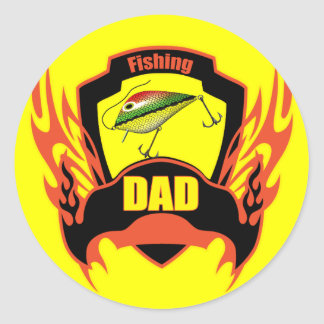 Fishing Classic Round Sticker